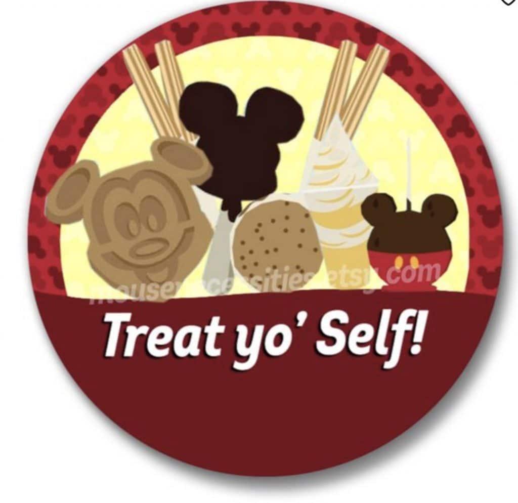 Disney treats on a button