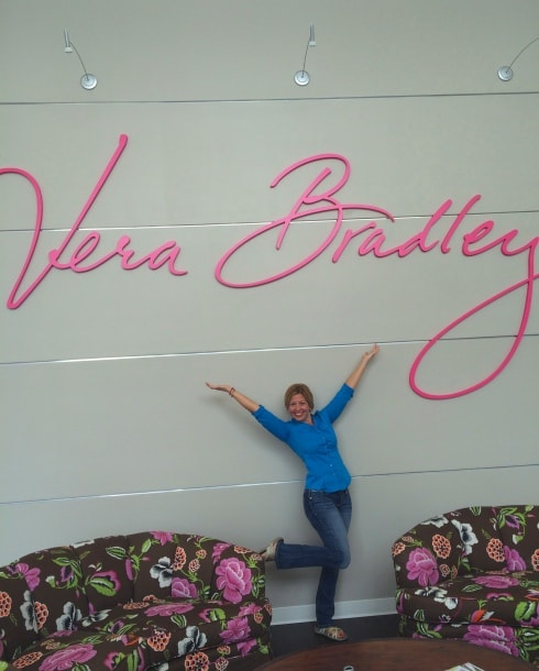 Kim at Vera Bradley New Lobby