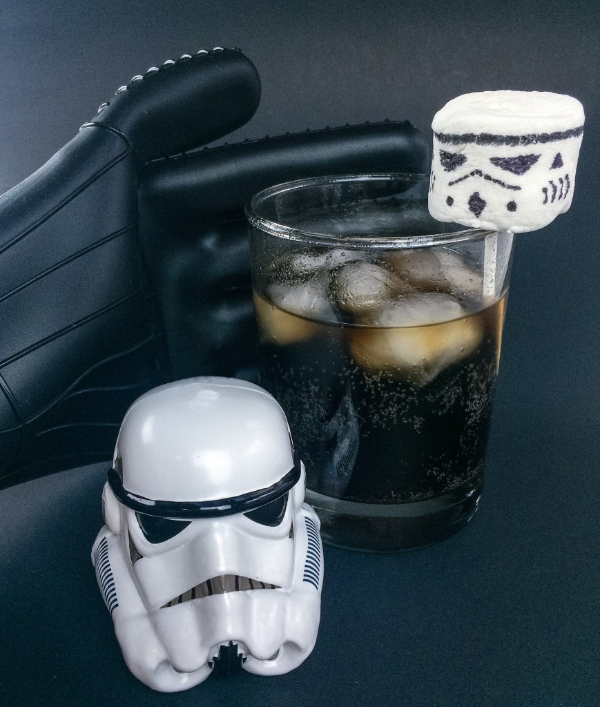 Dark and Stormy Star Wars Drink Mocktail Darth Vader