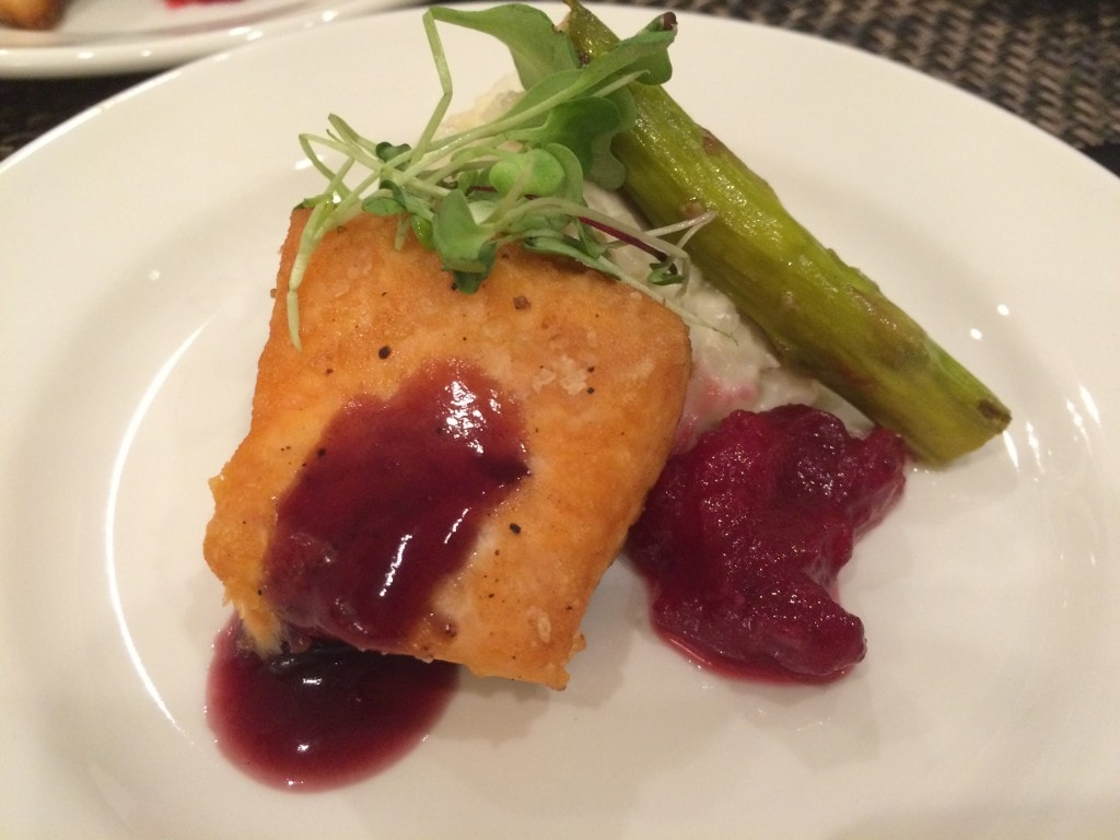Salmon with Cranberry Chutney