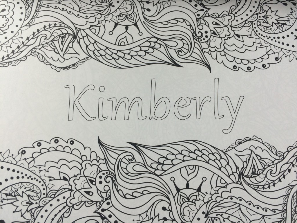 free personalized name coloring pages - photo#34