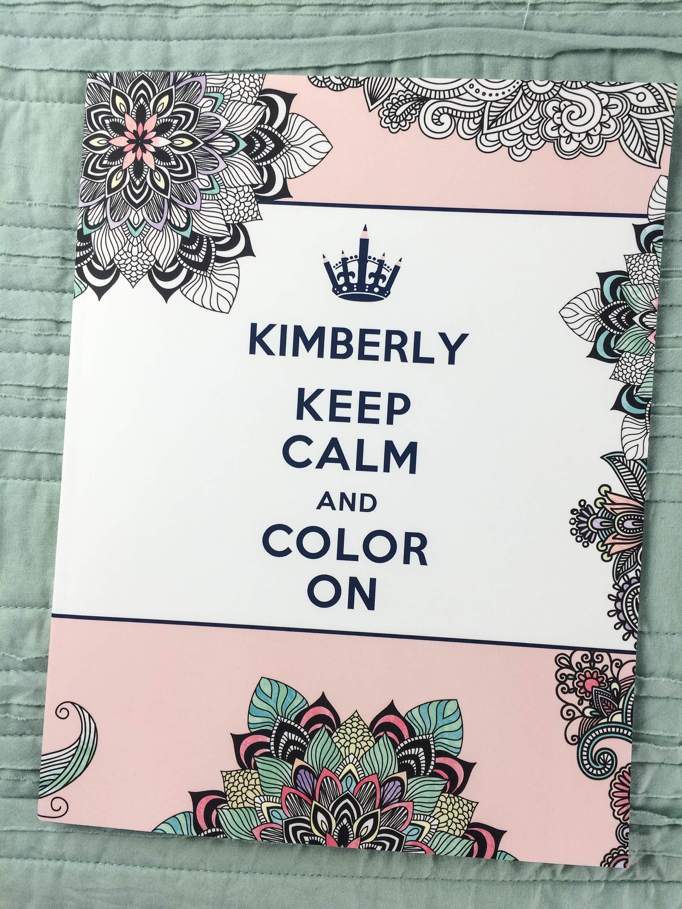 Personalized Adult Coloring Books from Put Me in the Story - Kim and ...