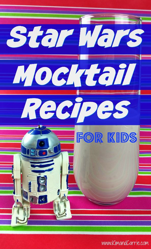Star Wars drink recipes for kids. These kid-friendly mocktail beverages celebrate Star Wars and classic movie icons. Any of these drink recipes sound good for a fun breakfast or movie night in?