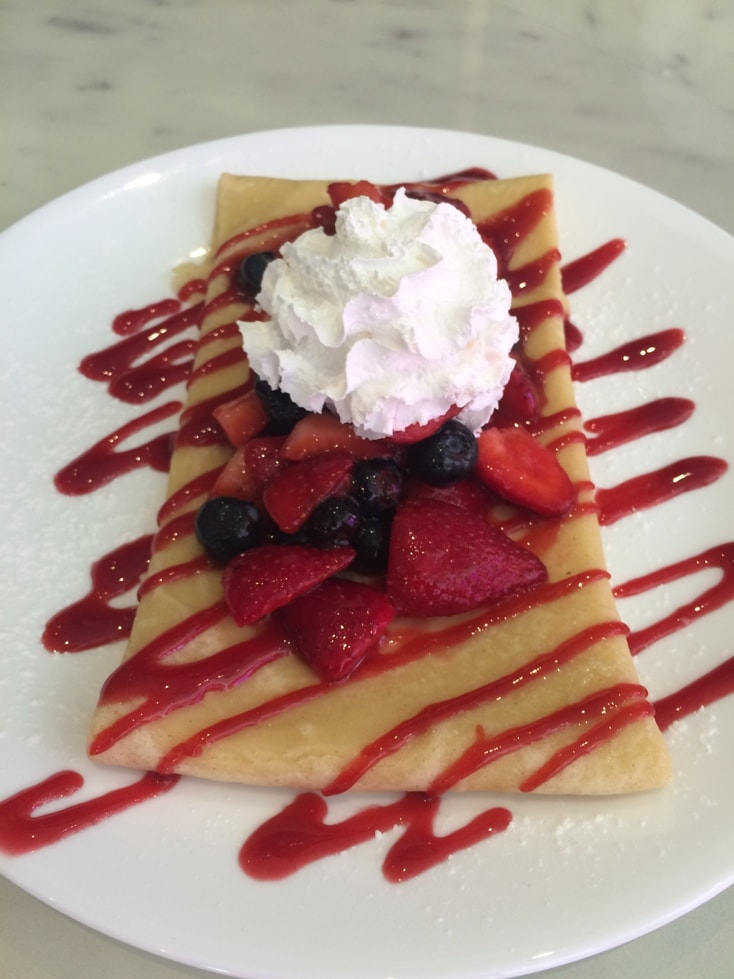 the Sugar Factory Orlando crepe