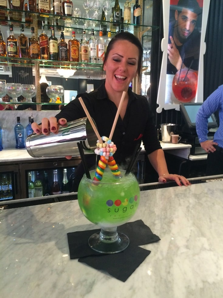 Lollipop Passion drink cocktail the Sugar Factory Orlando