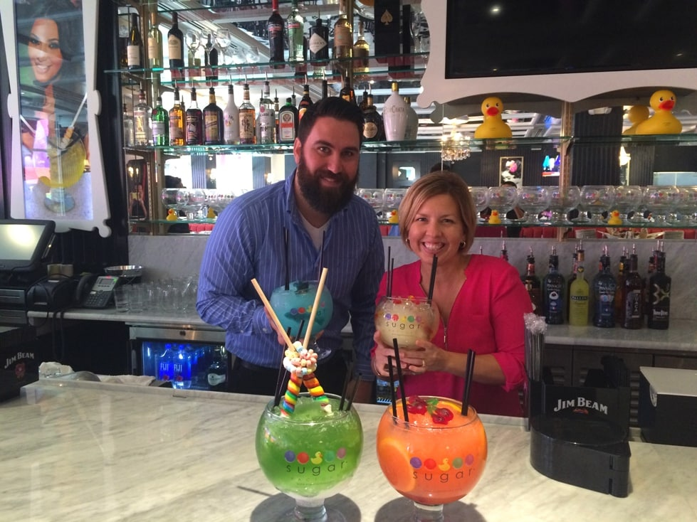 the Sugar Factory Orlando Kim with JJ Bar Manager