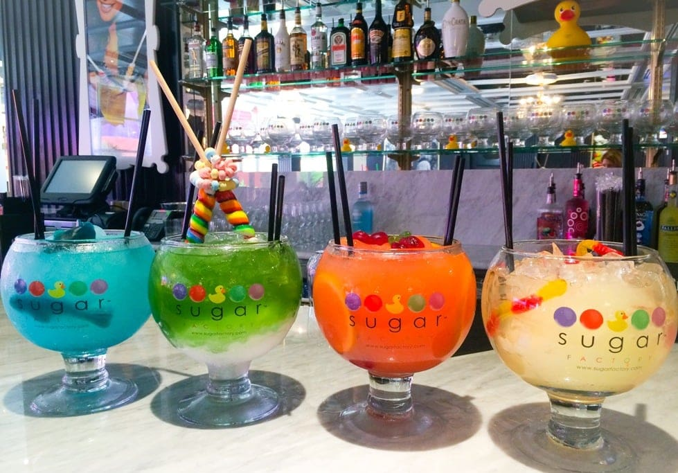 the Sugar Factory Orlando goblet drinks cocktails