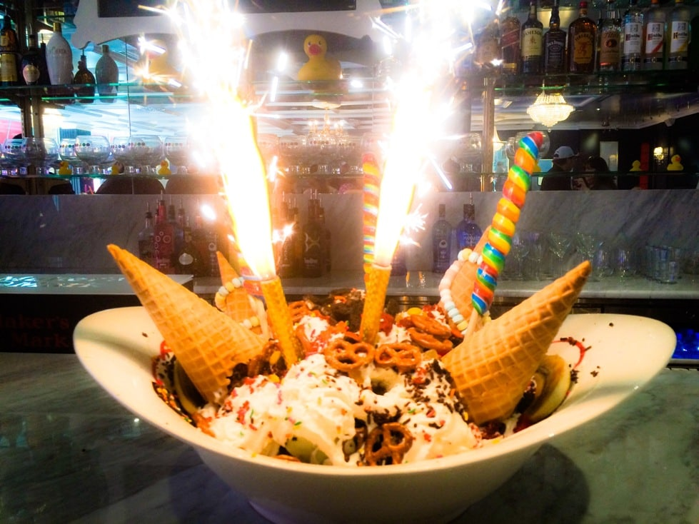 the Sugar Factory Orlando King Kong Sundae