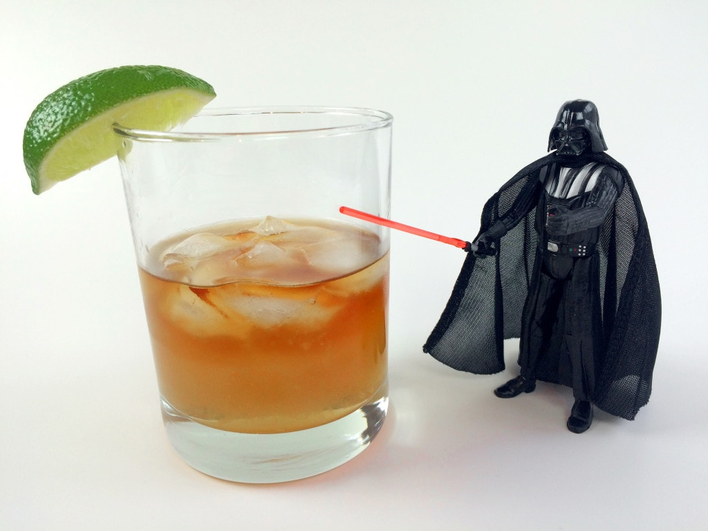 Dark and Stormy Cocktail Recipe with Darth Vader