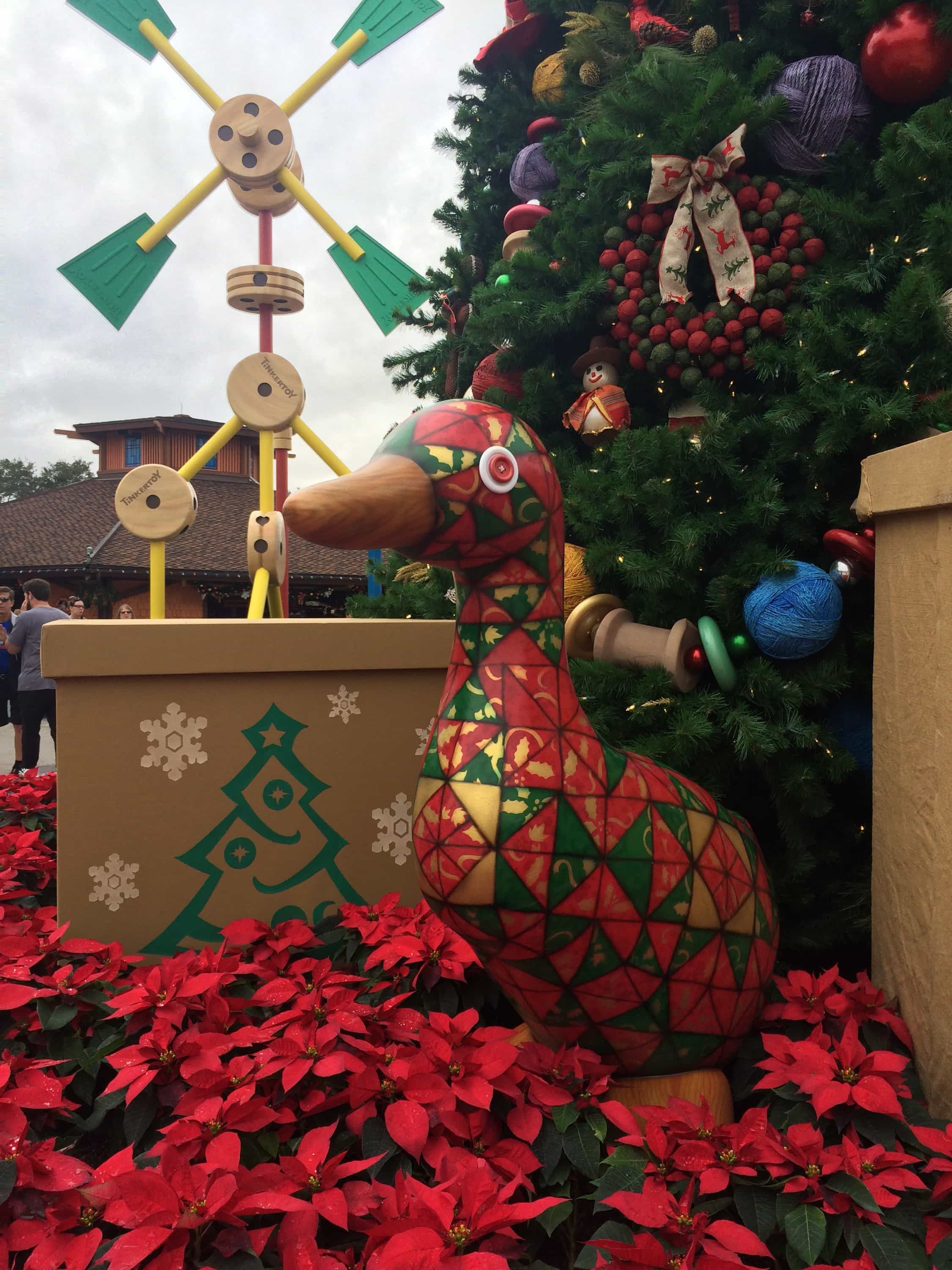 Christmas decorations at disney springs