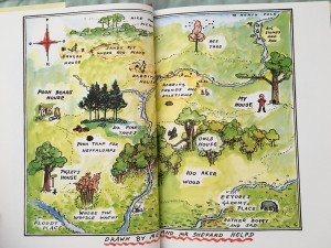 Hundred Acre Wood Map Winnie the Pooh