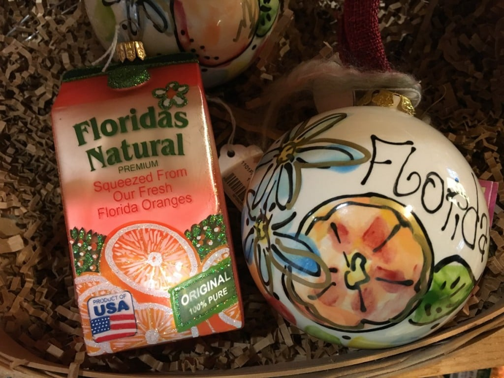 Florida's Natural Christmas Ornaments for Sale at Grove House Visitor Center Lakeland