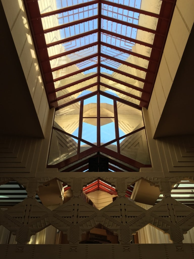 Frank Lloyd Wright Architecture Florida Southern College Campus Inside Pfeifer Chapel