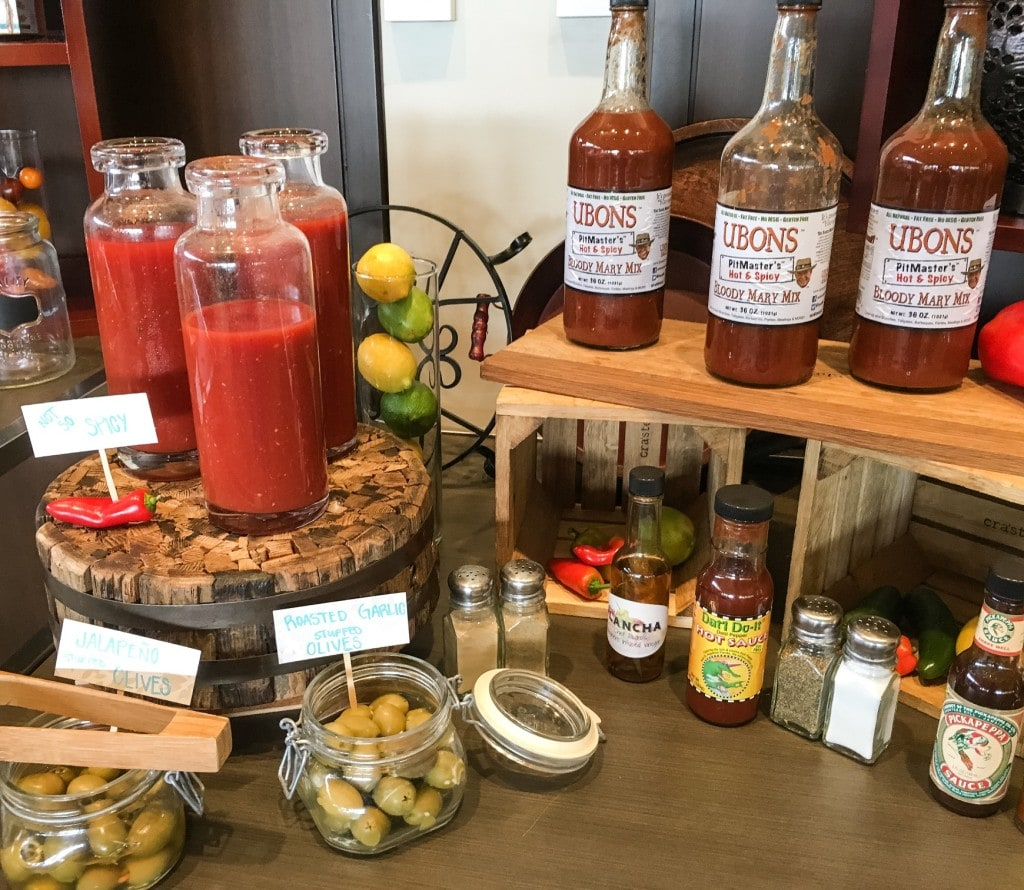 Four Seasons Orlando Brunch Plancha Buffet Bloody Mary Bar