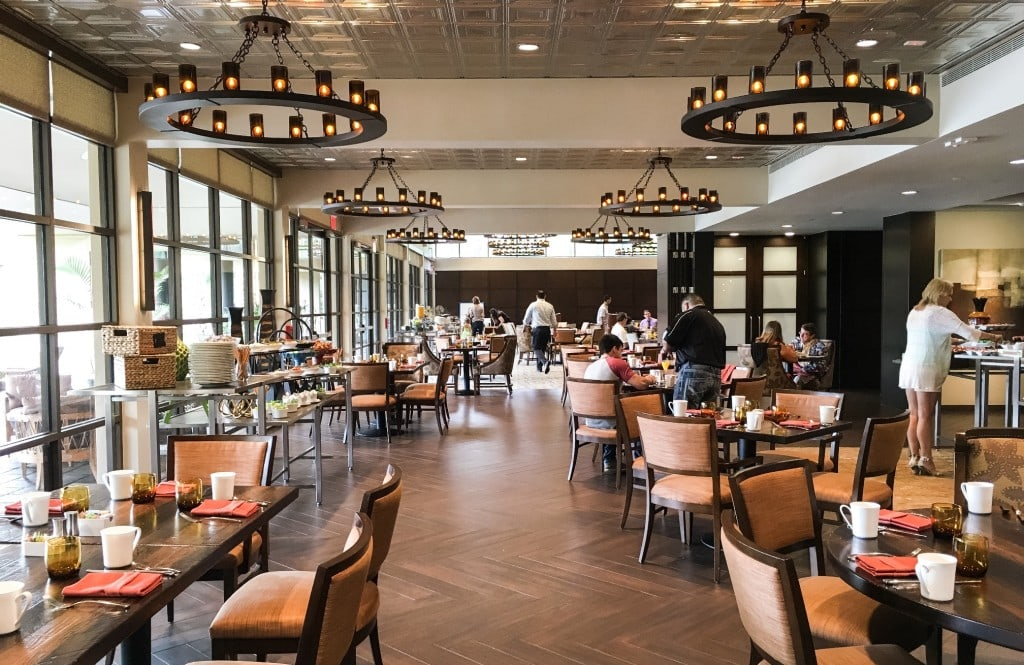 Four Seasons Orlando Brunch Plancha Buffet Dining Room