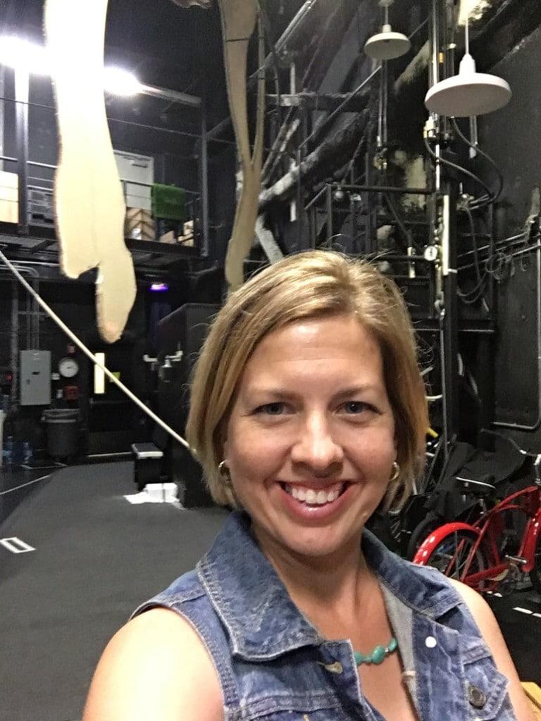 Kim at Cirque du Soleil La Nouba Walt Disney World Disney Springs Backstage