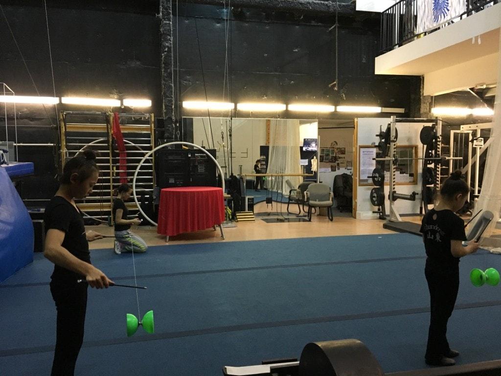 Cirque du Soleil La Nouba Walt Disney World Disney Springs Backstage Gym