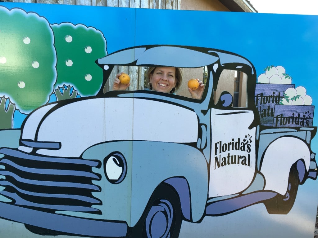Get Your Photo at Florida's Natural Orange Juice Visitor Center Photo Prop