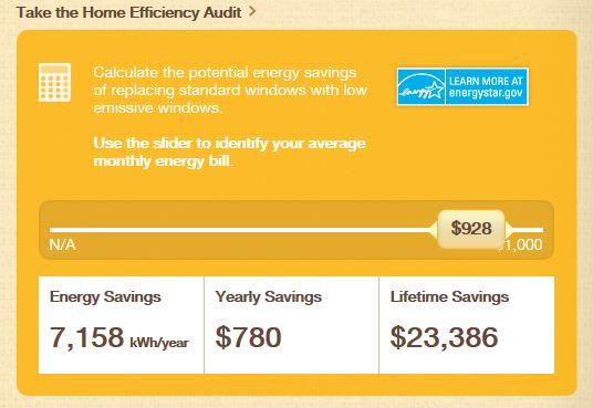 Energy Efficient Windows Calculator