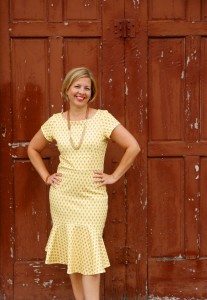 Shabby Apple Arrow Dotted Dress Detail