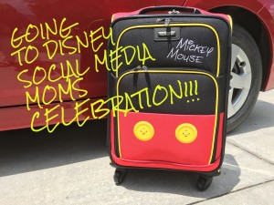 Going to Disney Social Media Moms Conference Celebration American Tourister Mickey Luggage