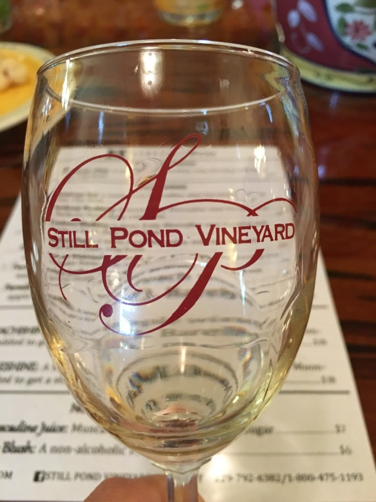 Still Pond Winery Tasting Glass Albany Georiga Wine
