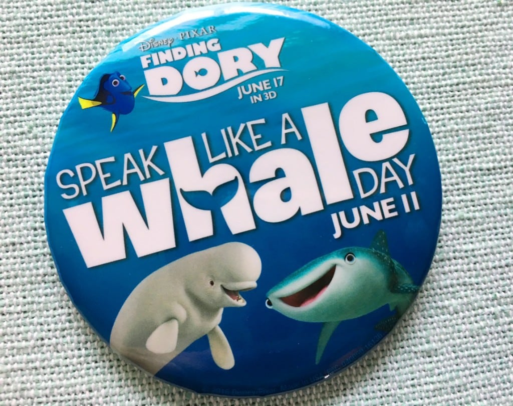 Speak Like A Whale Day Disney Parks Dory