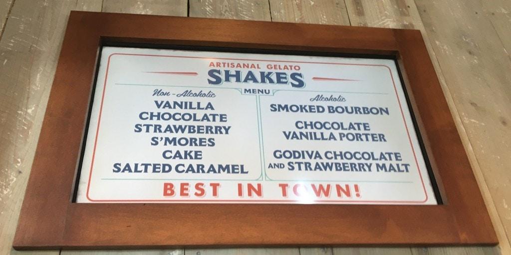 Artisanal Gelato Shakes at D-Luxe Burger Disney Springs
