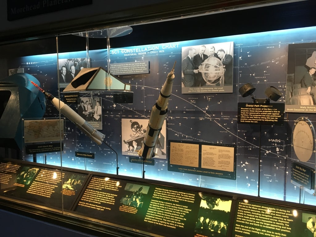 Morehead Planetarium in UNC Chapel Hill, NC was a training ground for NASA's earliest astronauts to learn celestial navigation.