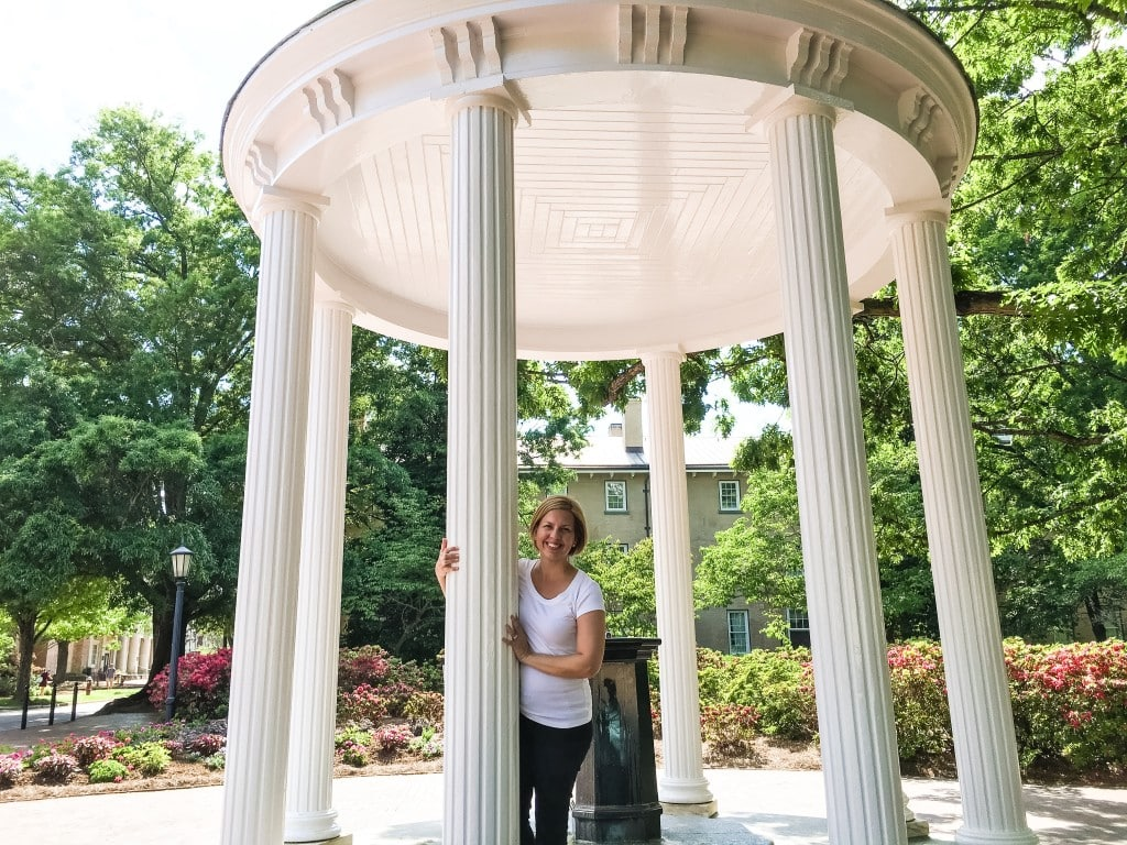 Kim at the UNC Chapel Hill NC Old Well