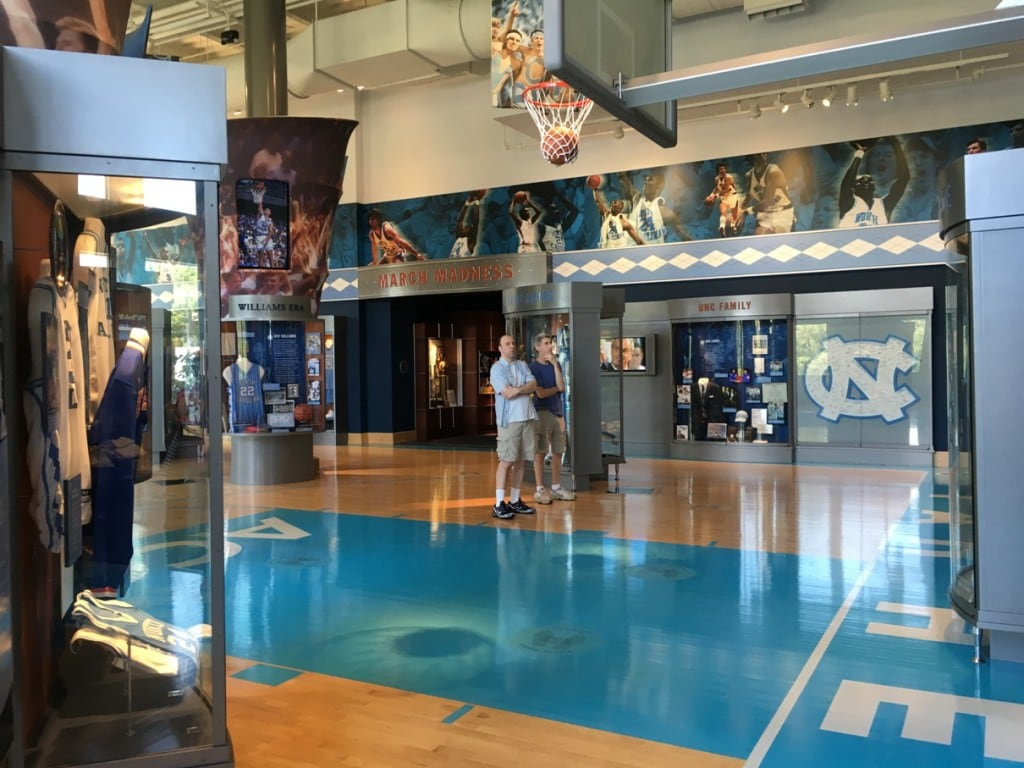 3 Day Weekend in Chapel Hill, NC. A must-see place to visit is the Carolina Basketball Museum on the UNC Chapel Hill Campus.