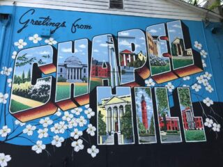3 Day Weekend in Chapel Hill, NC. Be sure to visit the 36 murals downtown.