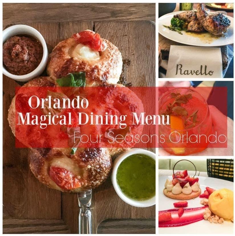Ravello Magical Dining Menu