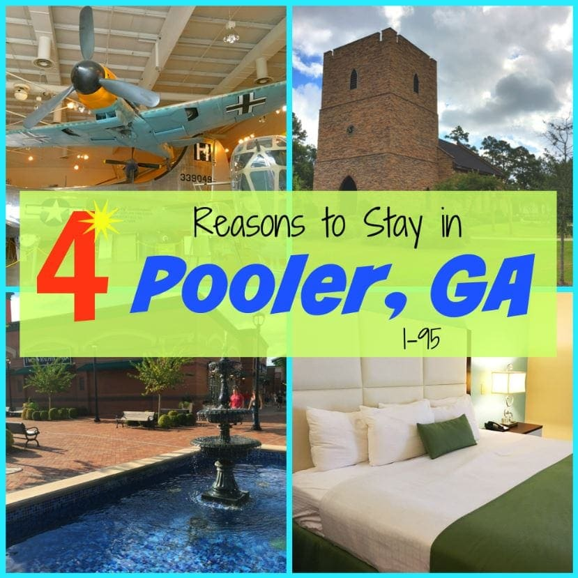 4 Reasons to Stop at the Pooler, Georgia exit while driving on I-95. Stay overnight and have fun with these attractions and destinations.