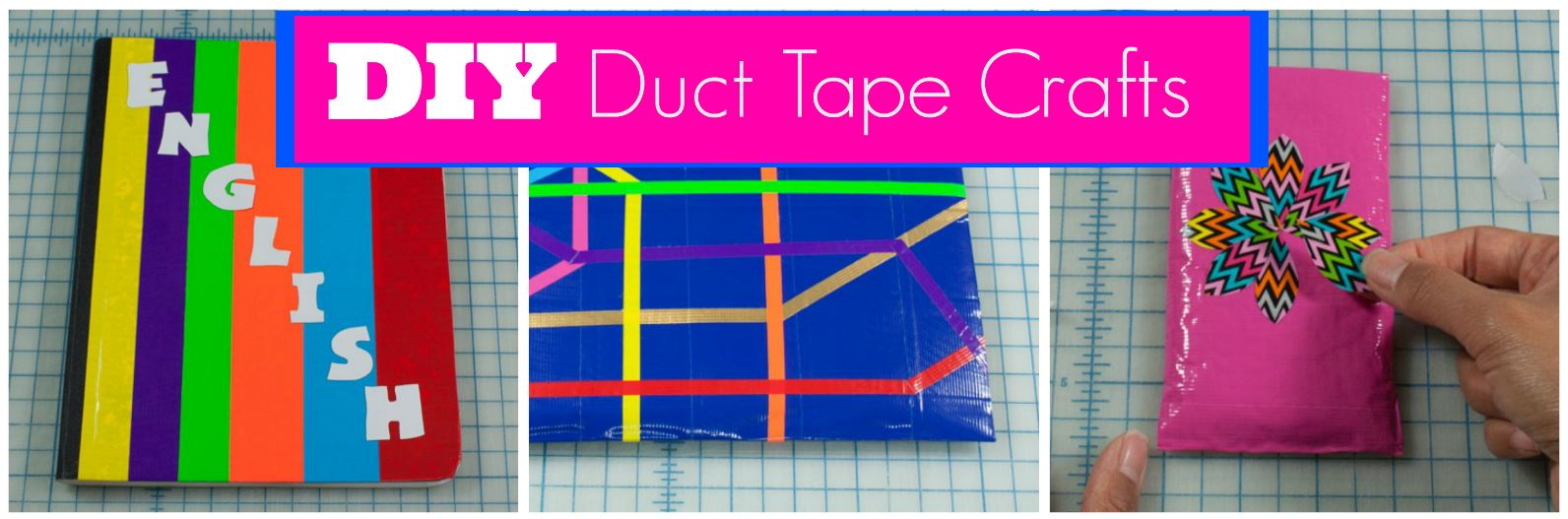 3 Easy Duct Tape Crafts For Back To School Kim And Carrie