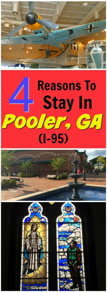 4 Reasons to Stop at the Pooler, Georgia exit while driving on I-95. Stay overnight and have fun with these unique attractions and destinations.