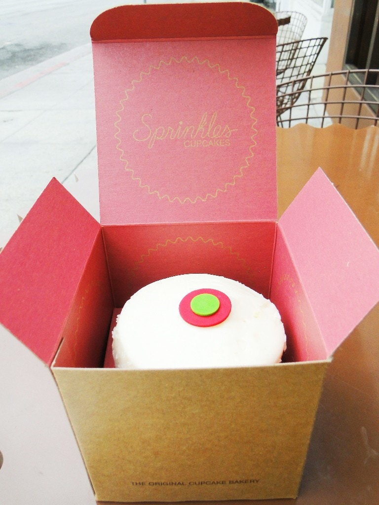 free sprinkles cupcake in box