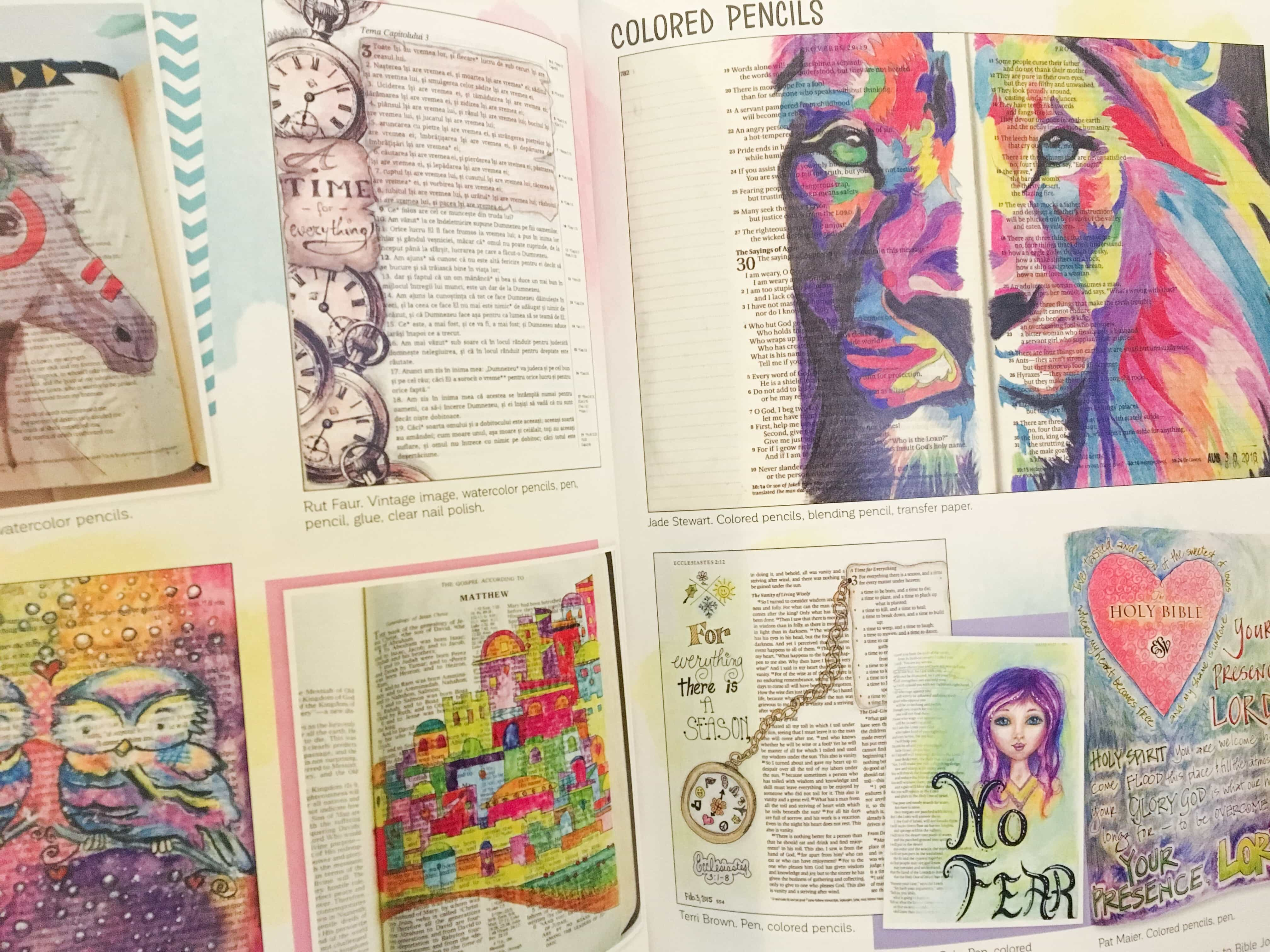 What a beautiful and inspirational Bible Journaling book! A complete guide to making beautiful and meaning artwork while reading scripture!