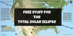 Free stuff for enjoying the total solar eclipse on August 21, 2017. From glasses to posters to 3D printing files, these are money saving ideas to view the eclipse on a budget. You need to request these right now!
