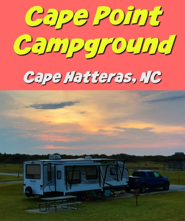 Camp near the beach at Cape Point Campground in Cape Hatteras National Seashore. A National Park Service campground near the ocean in the Outerbanks.