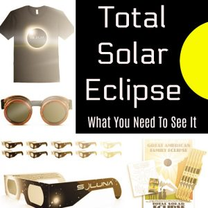 The total solar eclipse is August 21, 2017. See the moon completely hide the sun with these fun gadgets and specialty glasses. Be sure to protect your eyes with these sun viewing items, otherwise it could be dangerous! Don't miss out, order today!