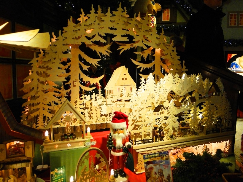 at kathe wohlfahrts christmas village in rothenburg 16000 square feet are packed with tiny and big