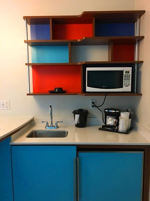 kitchen in universal cabana bay hotel room