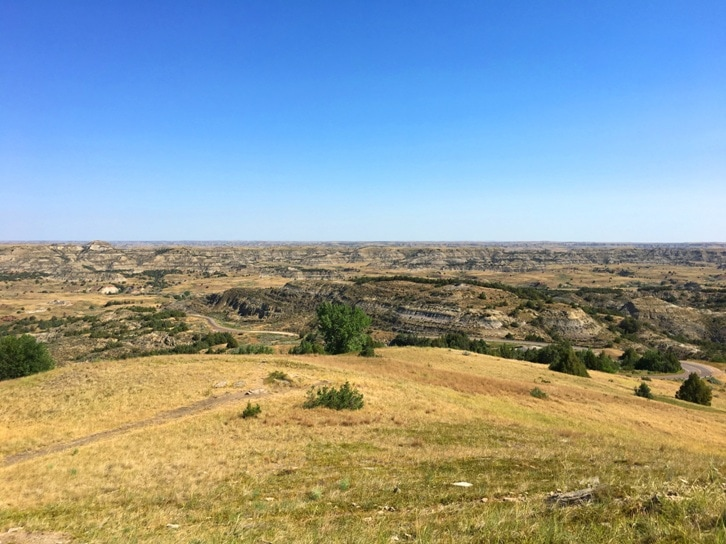 Vista from Theodore Roosevelt National Park in North Dakota