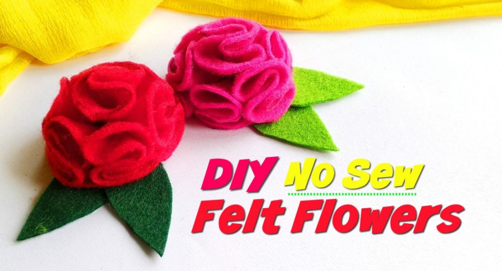 Diy No Sew Felt Flowers Ruffled Flower Pattern Kim And Carrie