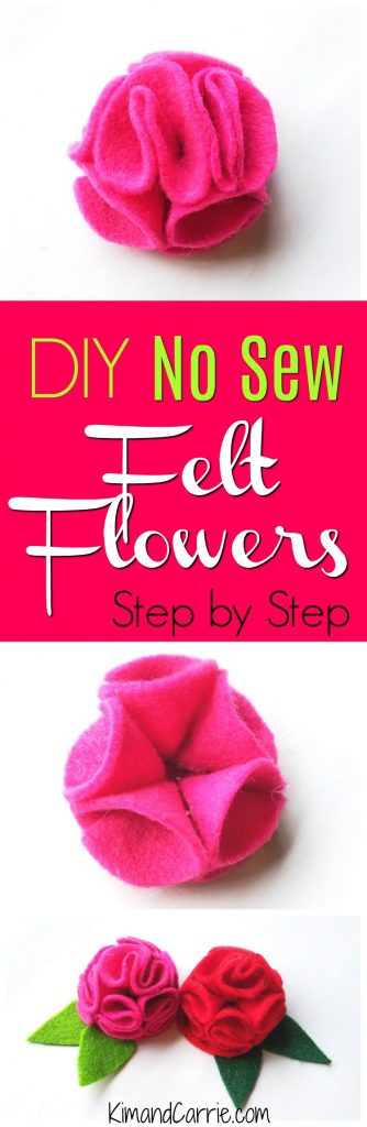 No Sew Felt Flowers Step by Step Tutorial