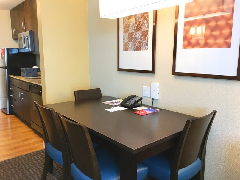 Dining room table at towneplace suites