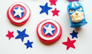 Captain America Shield Cookies No Bake Recipe