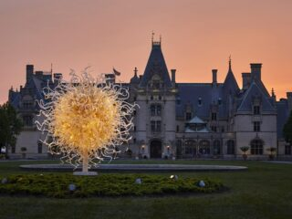 The Sun Chihuly Sculpture at Biltmore Estate