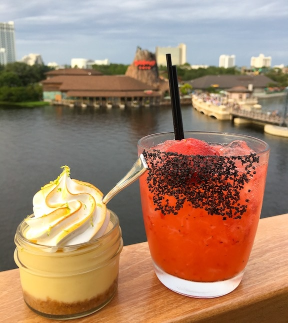rooftop deck view over lake at Disney springs at Walt Disney world in orlando